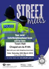 Safer Neighbourhood Meeting Saturday 24 March 2018