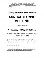 Information about the Annual Parish Meeting 2018