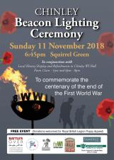 Chinley Beacon Lighting Ceremony - Remembrance Sunday