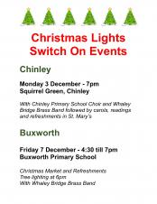 Christmas Lights Switch On - Chinley