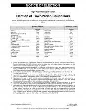 Notice of Election for Parish and Borough Councillors